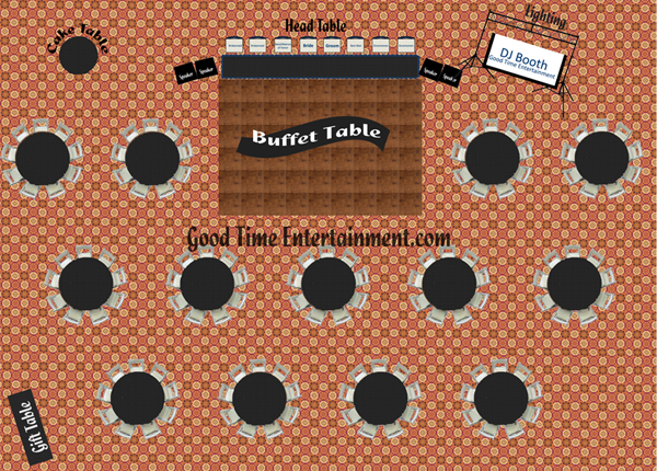 Best Wedding Reception Floor Plan Good Time Entertainment - Reception floor plan templates
