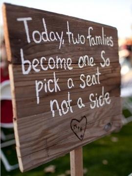pick a seat not a side
