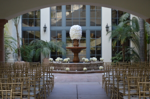 Bakersfield Country Club Wedding Ceremony Set-up